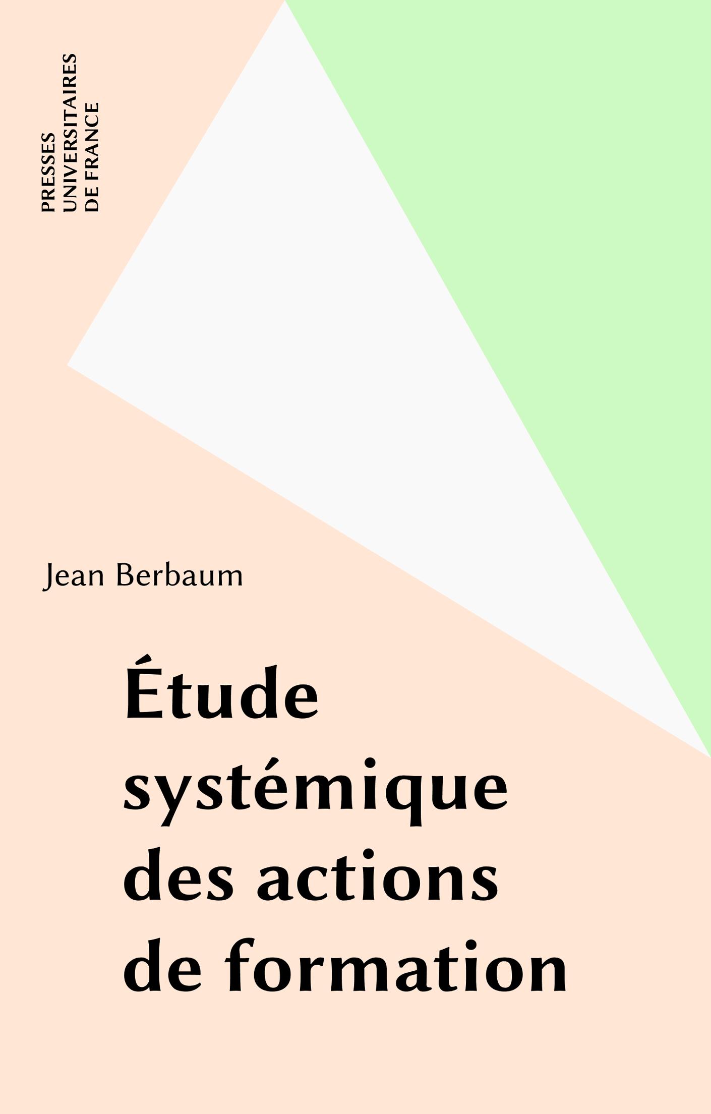 Étude systémique des actions de formation