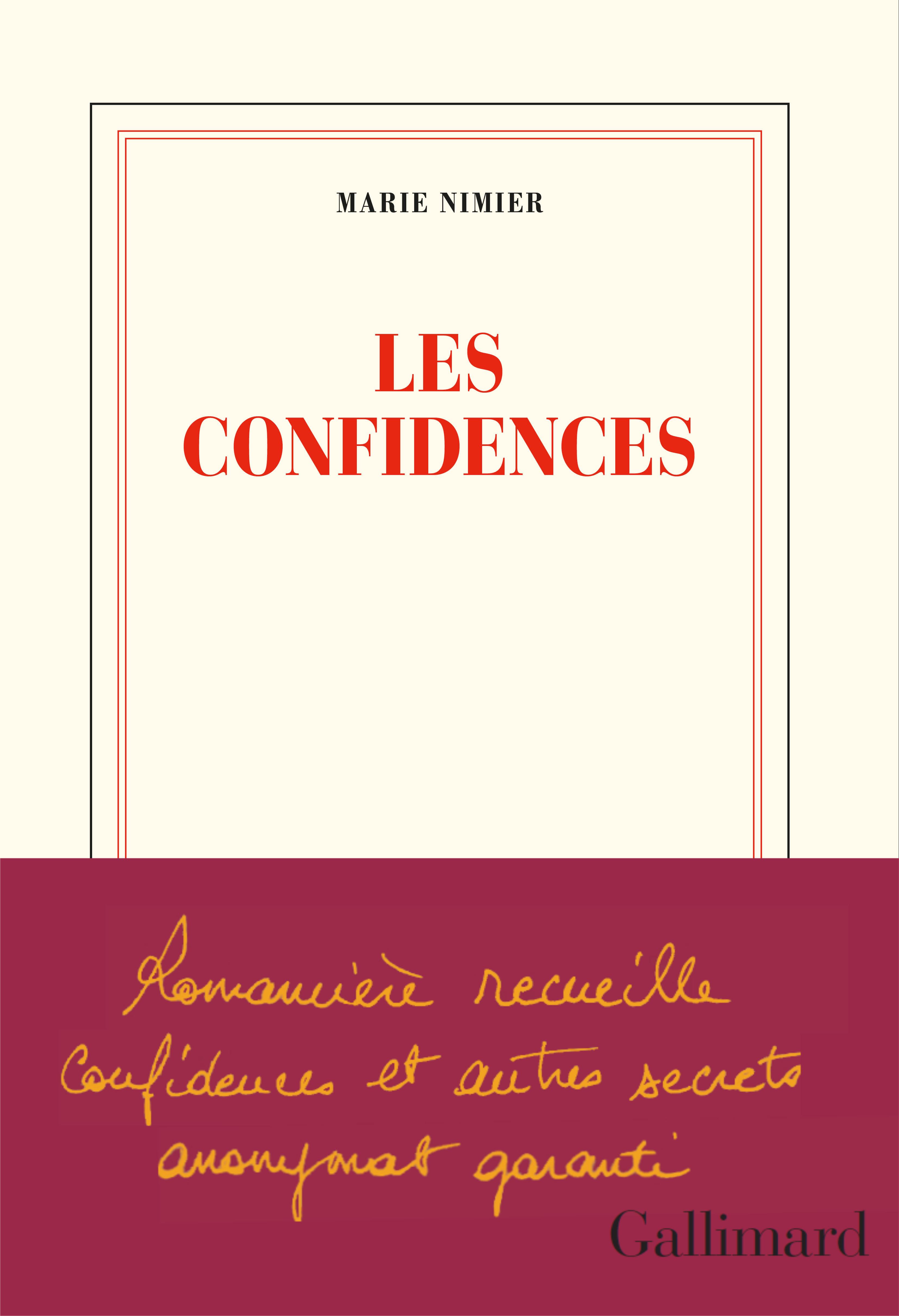 Les confidences | Nimier, Marie