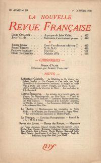 La Nouvelle Revue Française N' 205 (Octobre 1930)