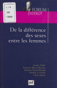 De la différence des sexes ...