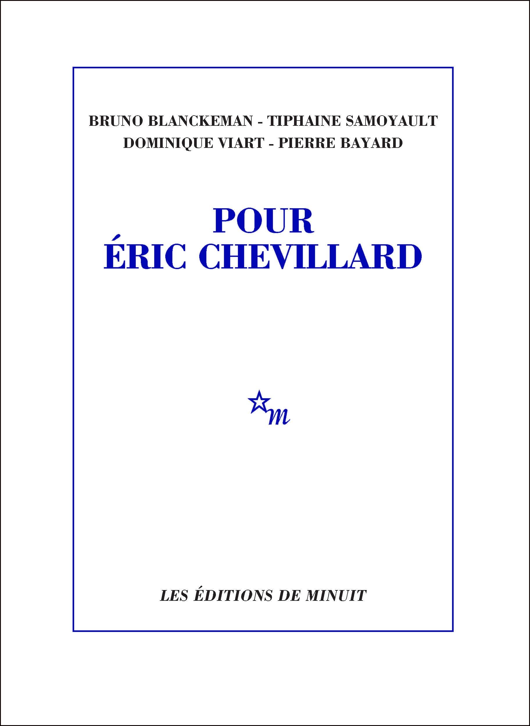 Pour Éric Chevillard