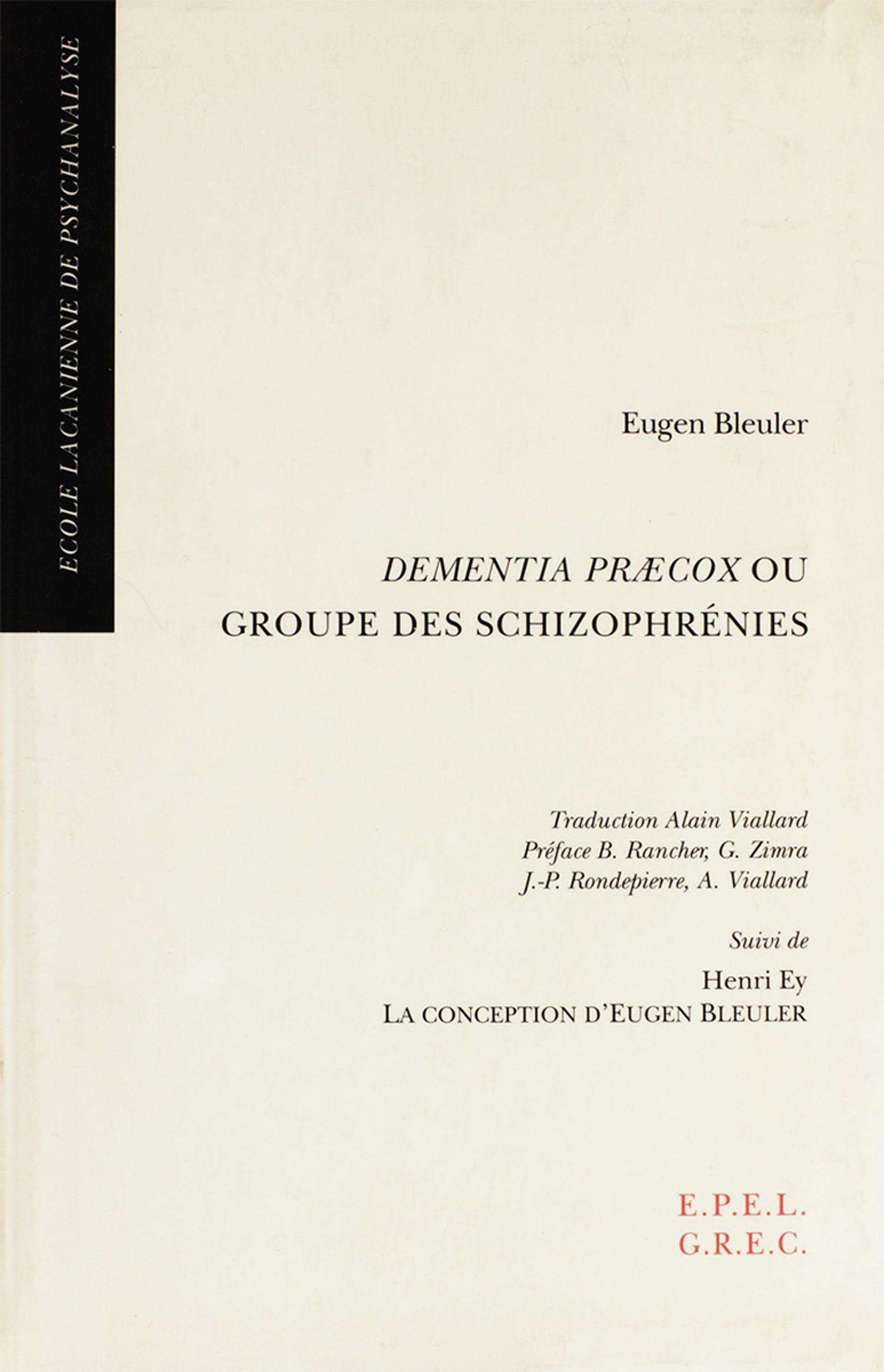 Dementia Praecox ou Groupe ...