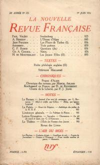 La Nouvelle Revue Française N° 273 (Juin 1936)