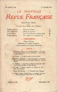 La Nouvelle Revue Française N' 208 (Janvier 1931)