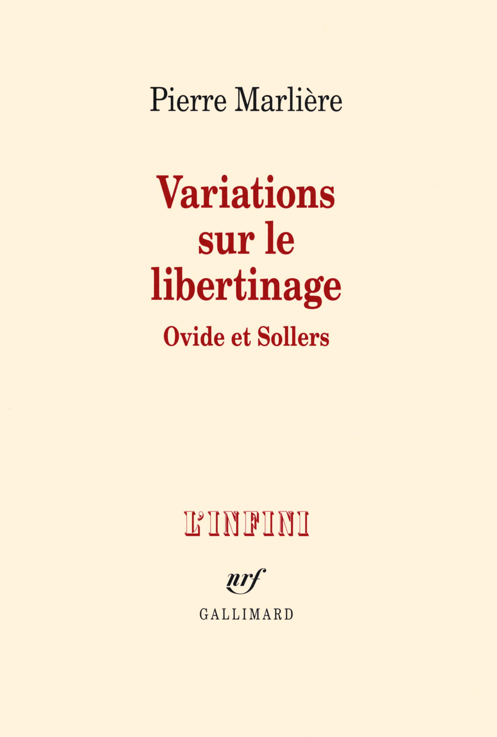Variations sur le libertinage. Ovide et Sollers
