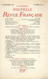 La Nouvelle Nouvelle Revue Française N' 23 (Novembre 1954)