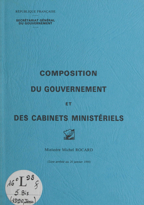 Composition du gouvernement...