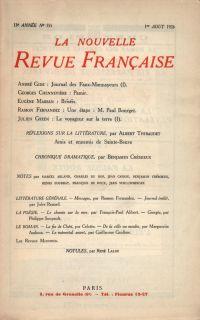 La Nouvelle Revue Française N' 155 (Aoűt 1926)