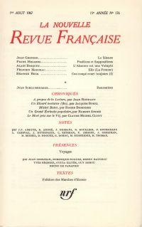 La Nouvelle Revue Française N' 176 (Aoűt 1967)