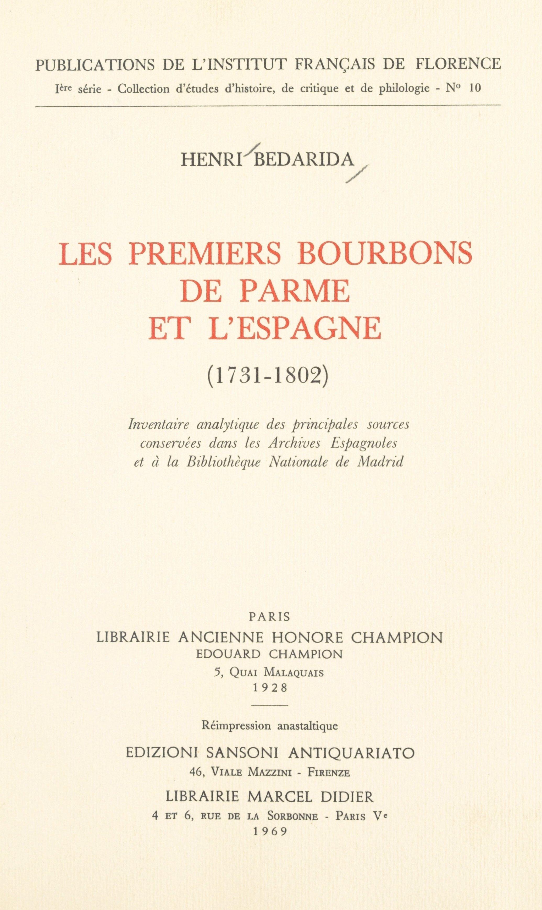 Les premiers Bourbons de Pa...