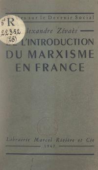 De l'introduction du marxis...