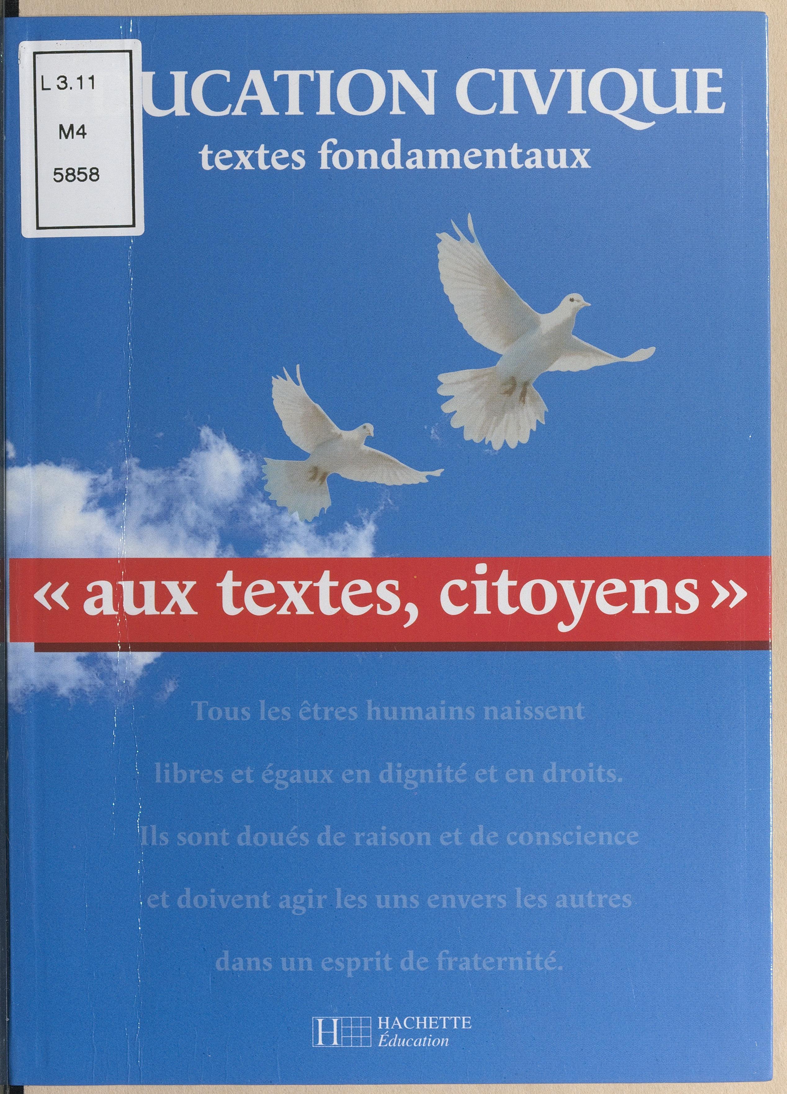 Aux textes, citoyens