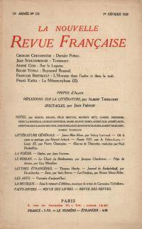 La Nouvelle Revue Française N' 173 (Février 1928)