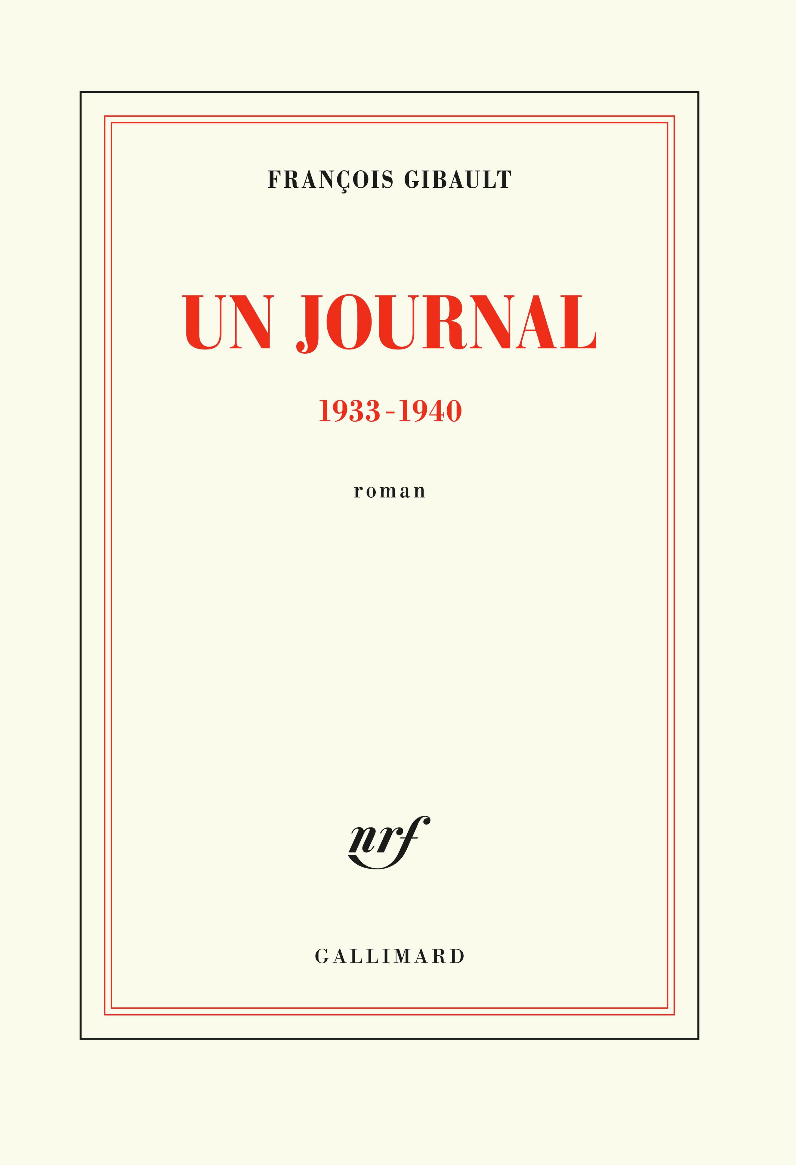 UN JOURNAL. 1933-1940