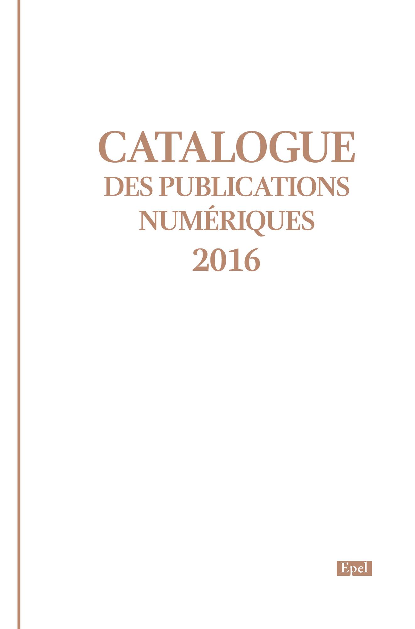 Catalogue des publications ...