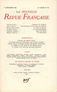 La Nouvelle Revue Française N' 144 (Décembre 1964)