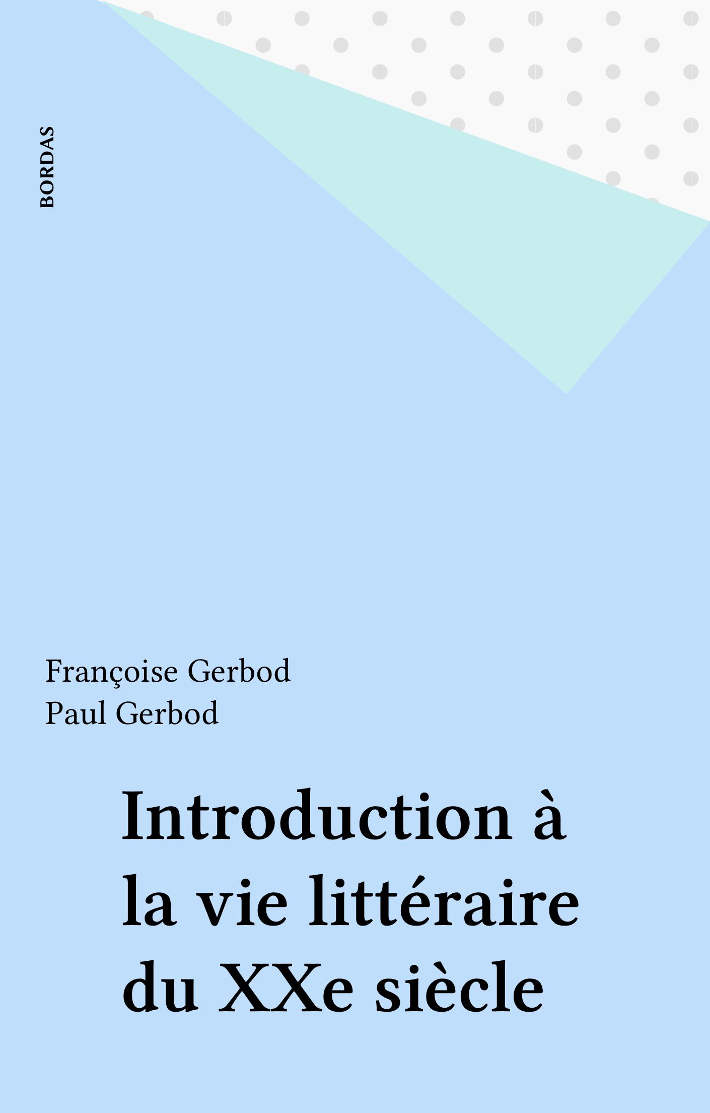 Introduction à la vie litté...