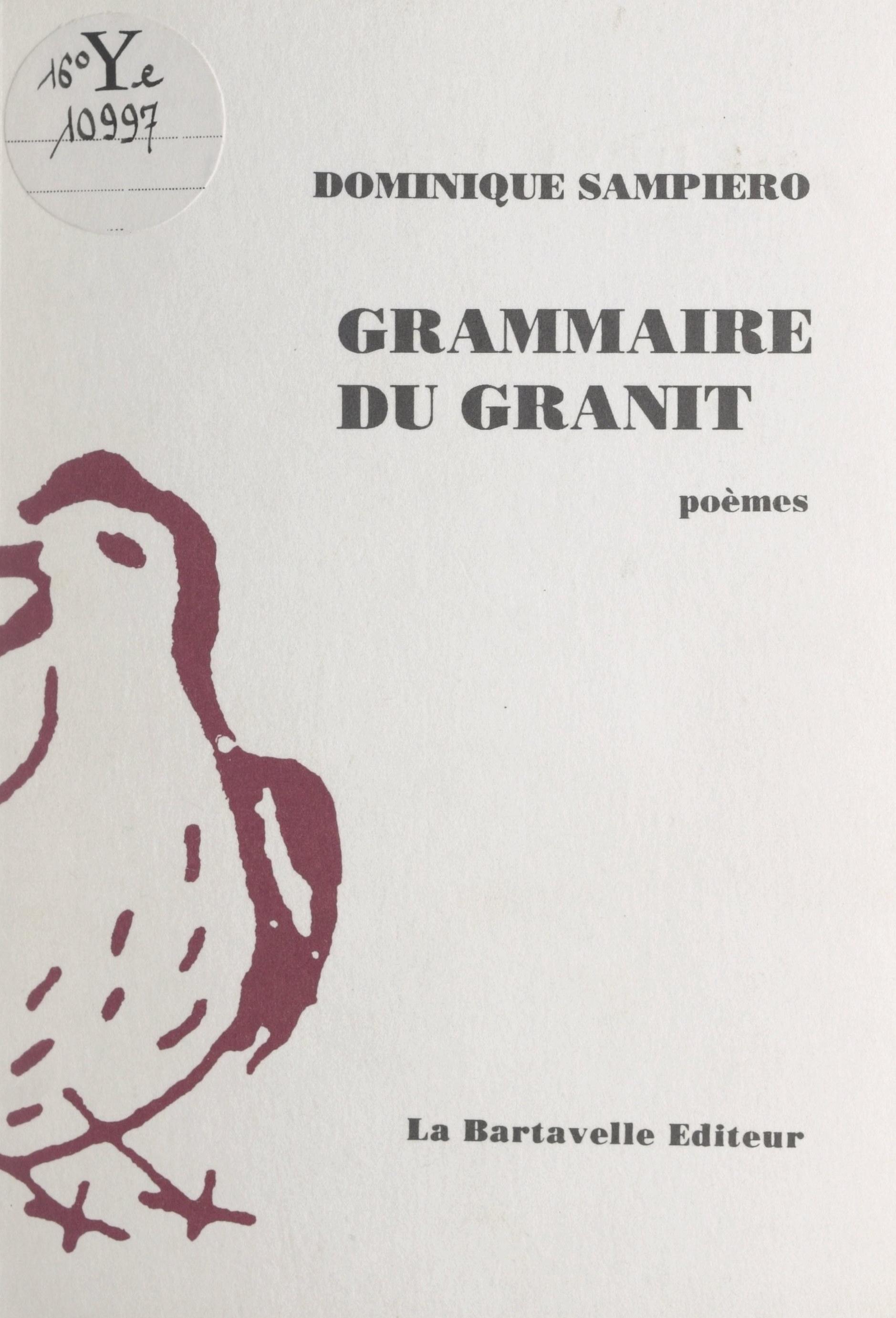 Grammaire du granit