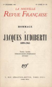Hommage ŕ Jacques Audiberti N' 156 (Décembre 1965)