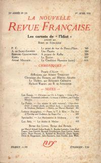 La Nouvelle Revue Française N° 235 (Avril 1933)