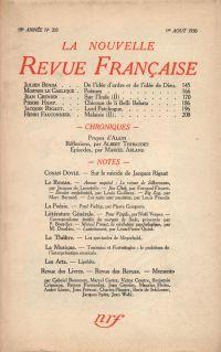 La Nouvelle Revue Française N' 203 (Aoűt 1930)