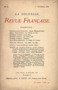 La Nouvelle Revue Française N' 13 (Février 1910)