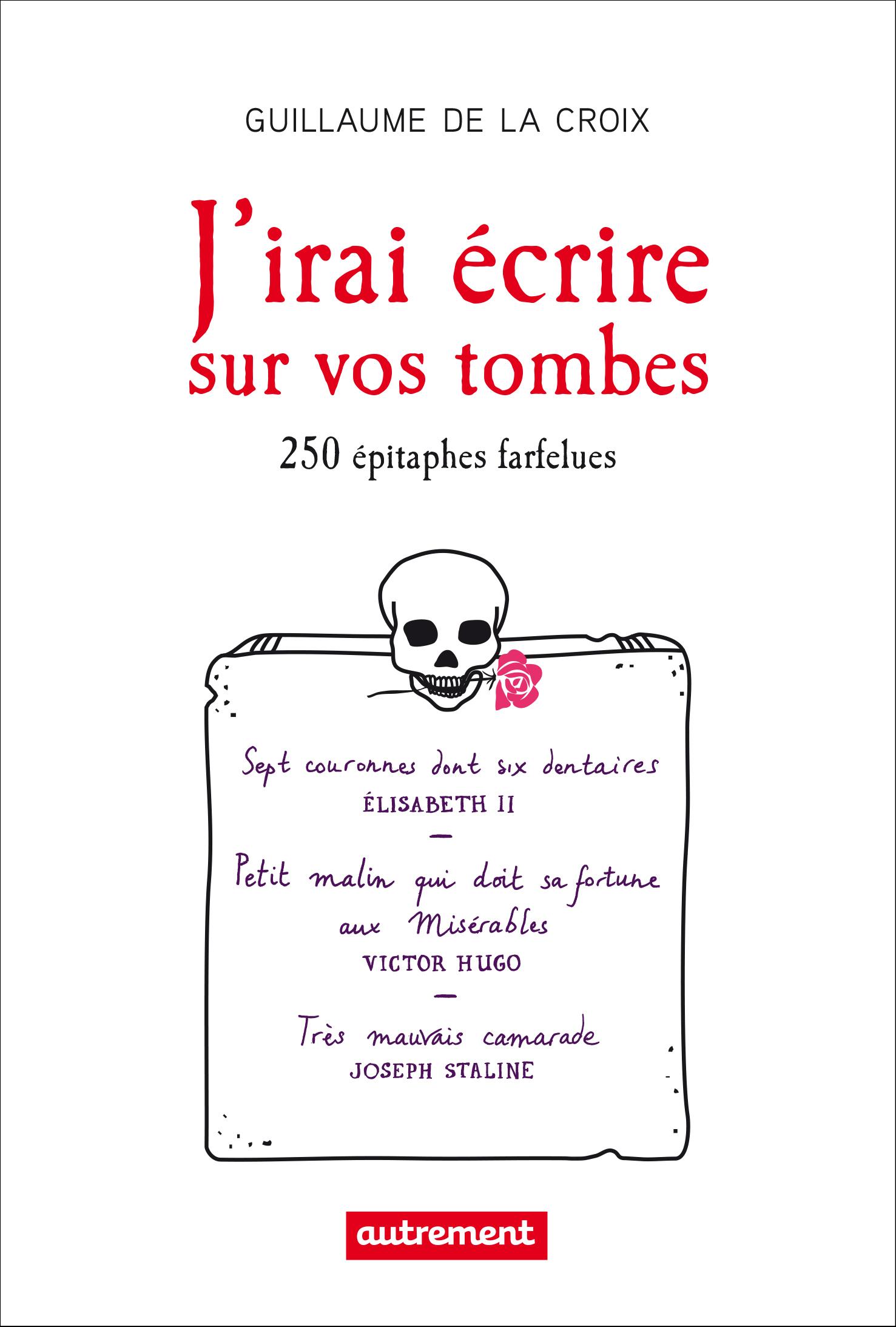 J'irai écrire sur vos tombes, 250 ÉPITAPHES INSOLITES