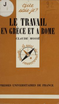 Le Travail en Grèce et à Rome