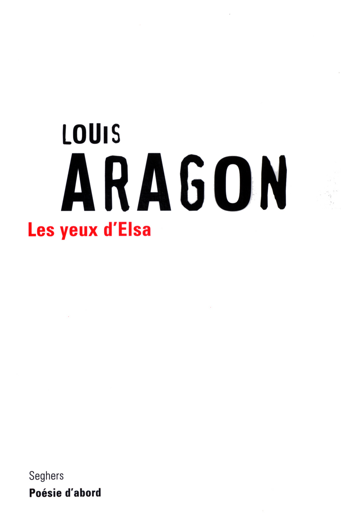 Les yeux d'Elsa | ARAGON, Louis