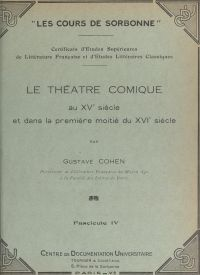 Le théâtre comique, au XVe ...