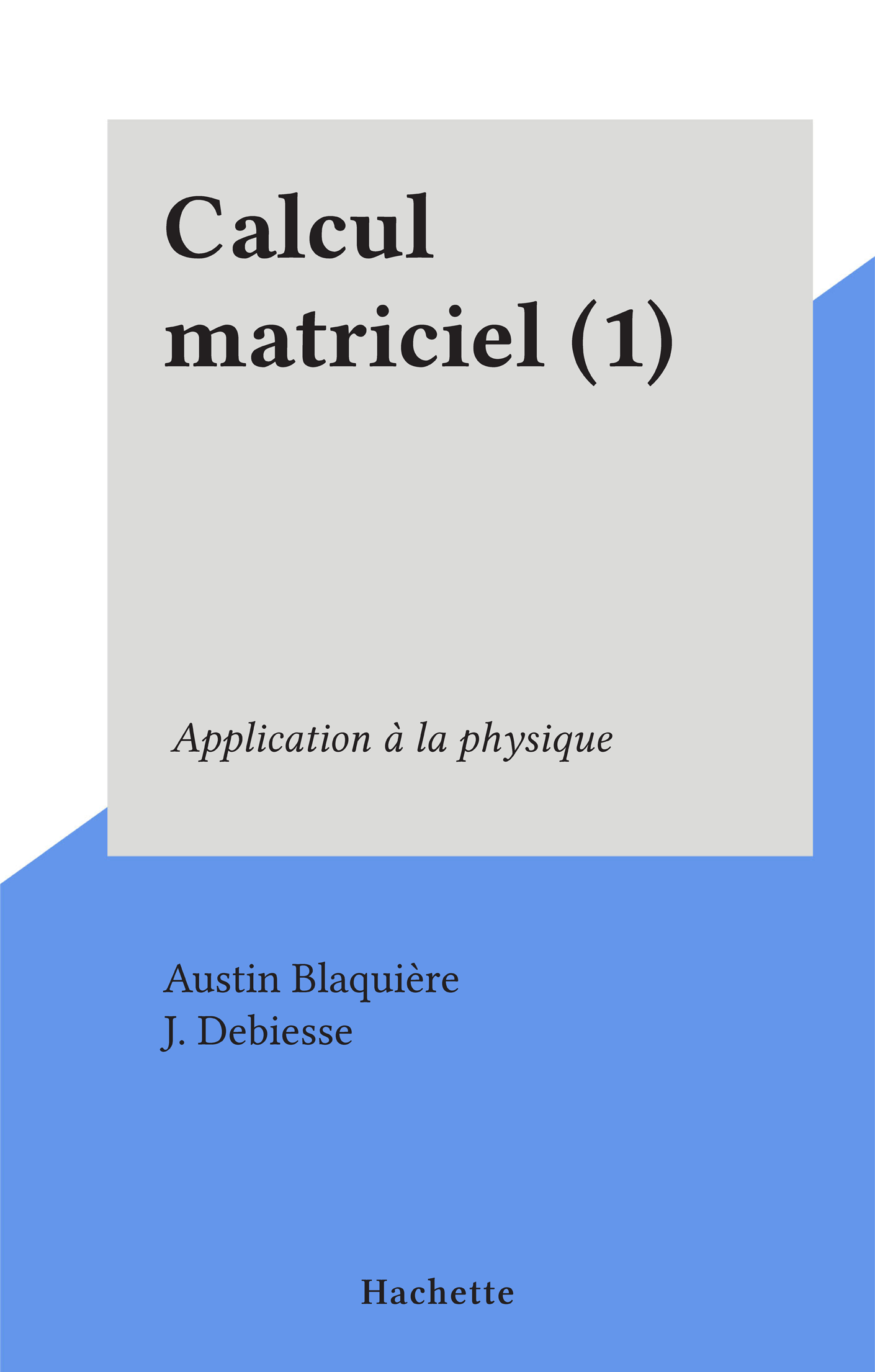 Calcul matriciel (1)