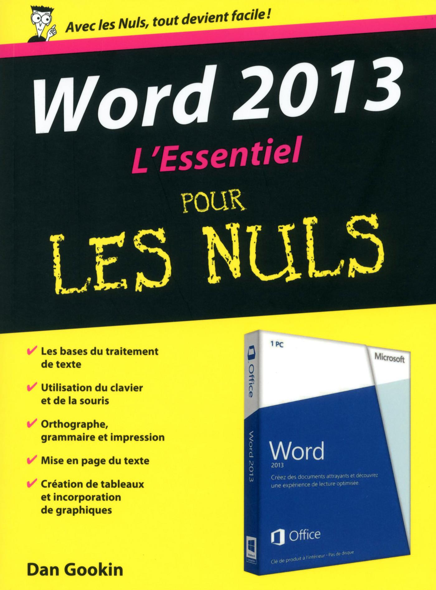 Word 2013 Essentiel pour les Nuls