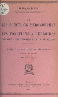 Sur les fonctions méromorph...