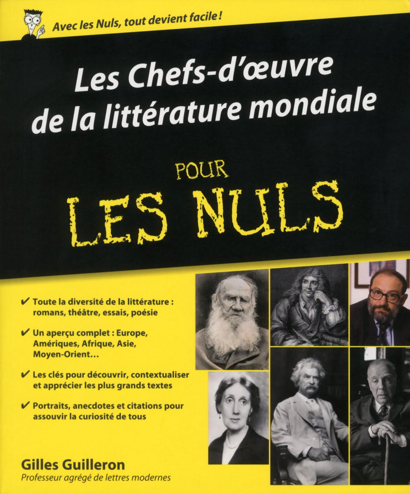 Les chefs-d'œuvres de la littérature mondiale Pour les Nuls