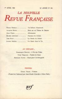 La Nouvelle Revue Française N' 184 (Avril 1968)