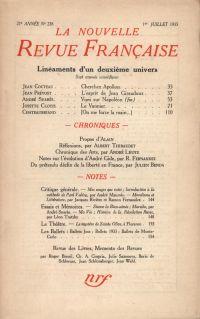 La Nouvelle Revue Française N° 238 (Juillet 1933)