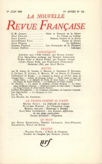 La Nouvelle Revue Française N' 126 (Juin 1963)