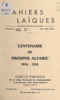 Centenaire de Prosper Alfar...