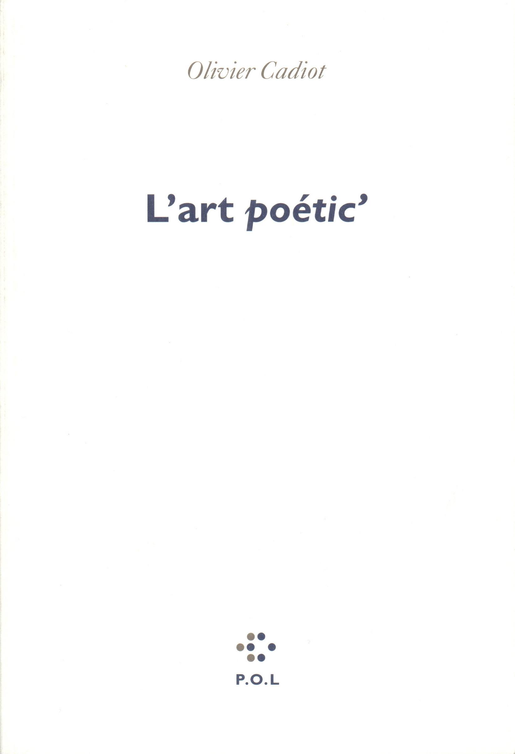 L'Art Poetic'