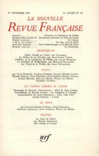 La Nouvelle Revue Française N' 131 (Novembre 1963)