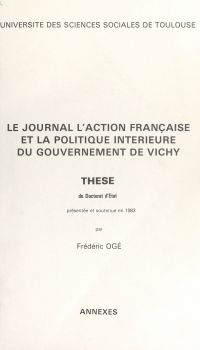 Le journal l'Action Françai...