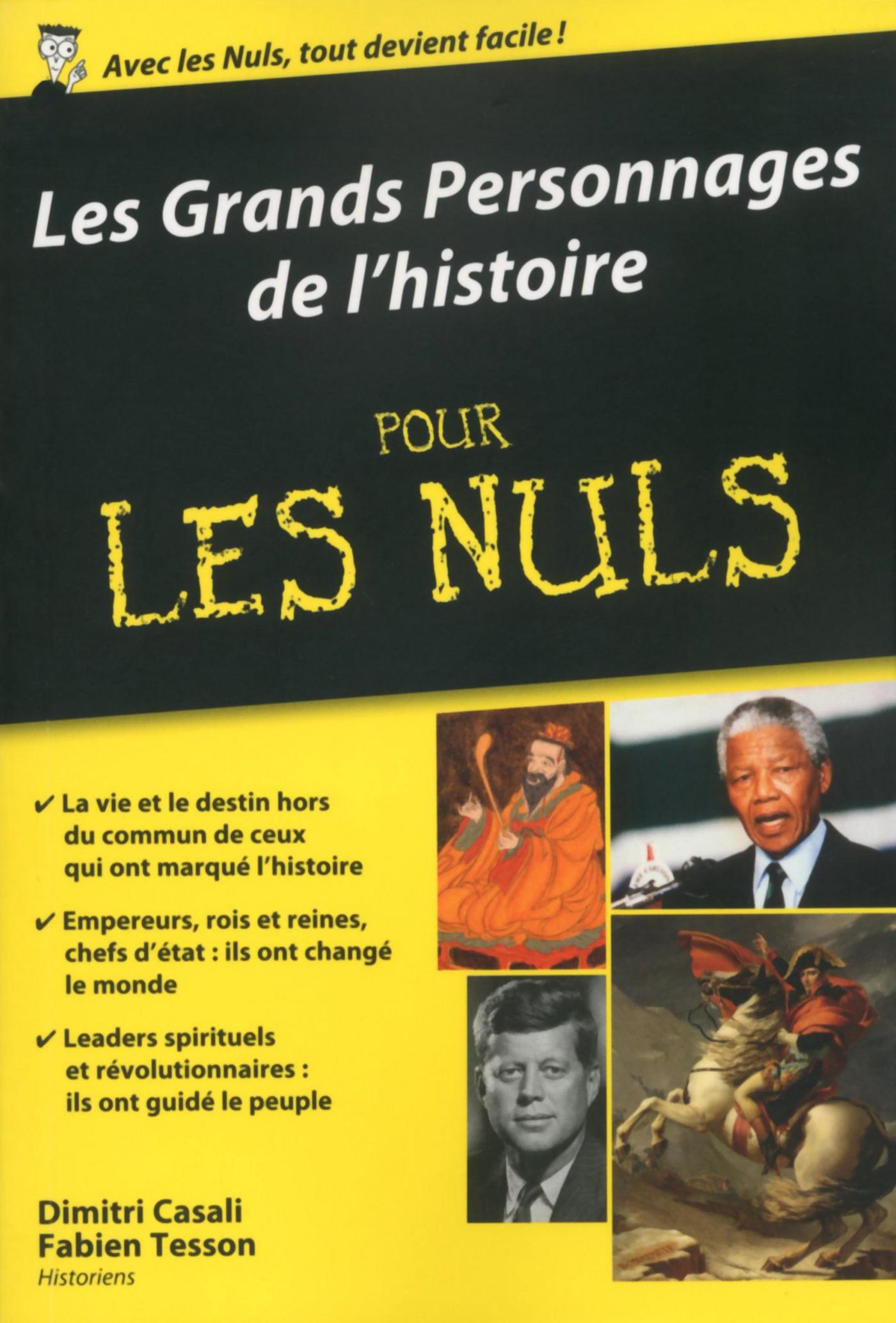 Les Grands Personnages de l'histoire pour les Nuls poche