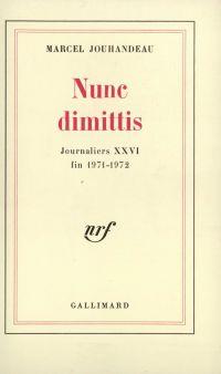 Nunc dimittis (1971-1972)