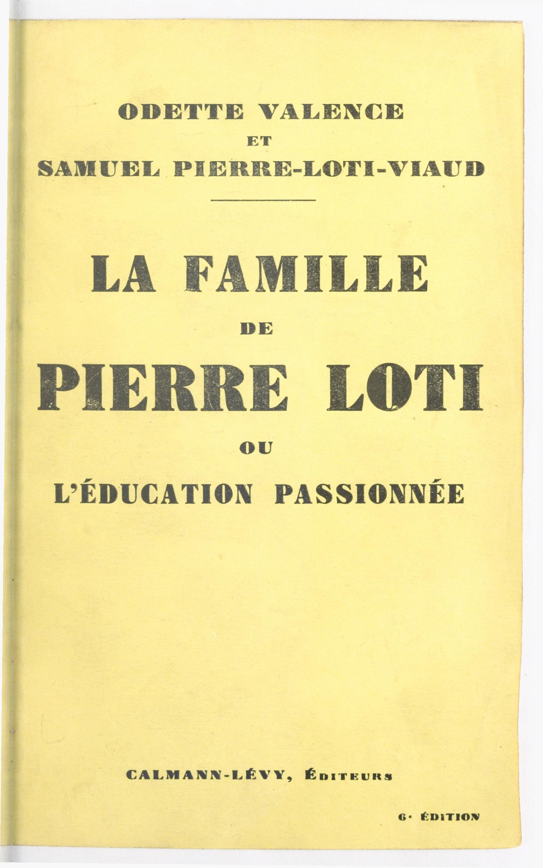 La famille de Pierre Loti