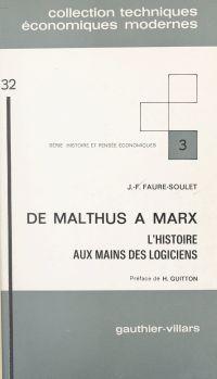 De Malthus à Marx