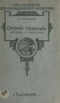 Chimie générale appliquée à...