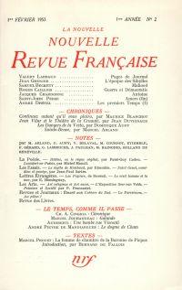 La Nouvelle Nouvelle Revue Française N' 2 (Février 1953)