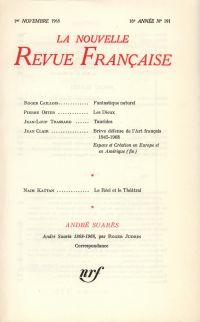 La Nouvelle Revue Française N' 191 (Novembre 1968)