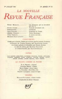La Nouvelle Revue Française N' 151 (Juillet 1965)