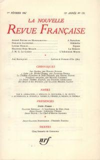 La Nouvelle Revue Française N' 170 (Février 1967)